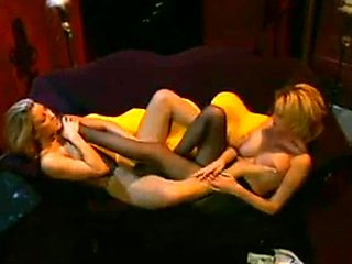 2 big tit lesbians with foot fetish in hot action