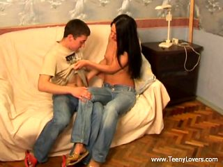 hot teen action on a couch