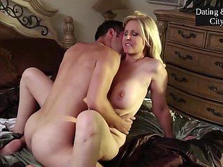Blonde Stepmom Making Love With Stepson