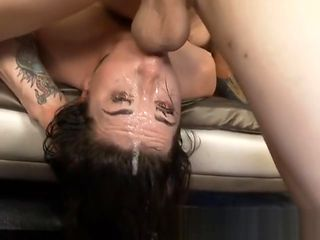 Brunette Dirtbag Kat Monroe Gagging On Dick During Face Fuck