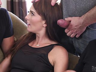 Bianca Breeze loves to feel pleasure by two dicks at the same time