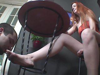 Goddess Victoria Dirty Foot Slave Lick