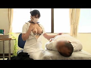 Stacked Japanese nurse in uniform can't resist a meat pole
