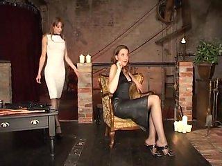 Two german lesbain women enhoy some spanking flogging and impact play