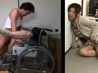Lustful Japanese housewife hears her neighbors having sex