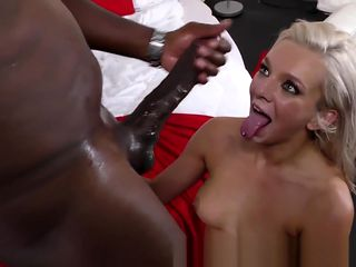 Ho squirts on black dong