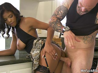Wondrous big breasted brunette Nia Nacci is fond of topping long cocks