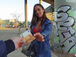 Alyssa Reece spreads her legs for a strong dick on the street