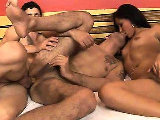 Bisex Claudio Pablo And Bianca Threesome Sex