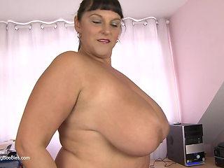 British mature Carol Brown interview, huge boobs