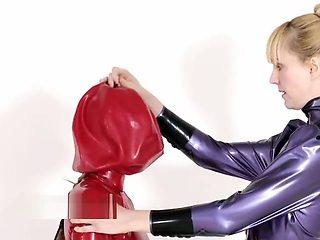 Latex balloon bondage
