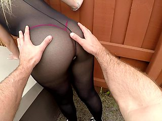 Fantastic lady in explicit black lingerie Serena Skye gonna be poked doggy
