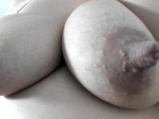 Thick fat big nipples on big natural tits