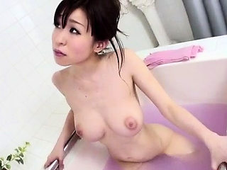 Shower goes nasty for cock sucking Miina Kanno - More at