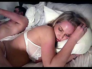 Stepfather fucks his daughter while mother sleeps