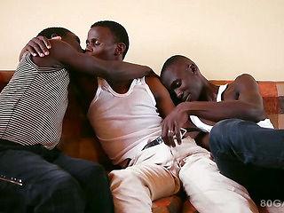 Black African Bareback Threesome