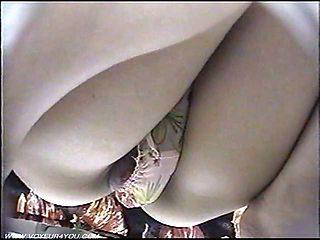 Spycam Low Angle Mini skirts Panties
