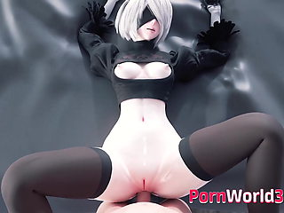 Sex Collection of Popular Animated 2B Big Nice Boobs