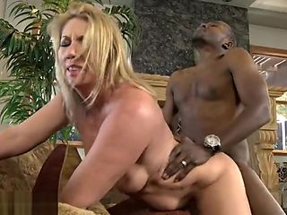Godlike old lady drilled by a black cock