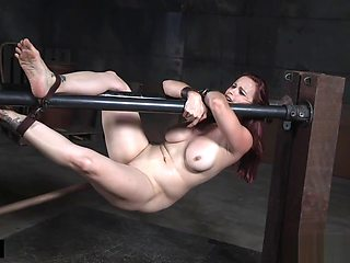 Bigass slave whipped and toyed by her master