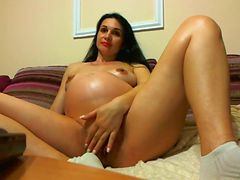 Mila Pregnant Romanian HUGE!!! Skype Show Webcam