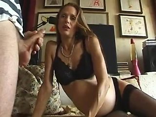 French Mother I'd Like To Fuck preggo with unshaved slit
