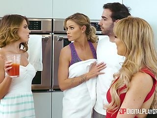 Threesome with cum loving sluts : Adriana Chechik and Cherie Deville