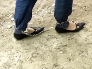 Female Ankle Cuffs Walked