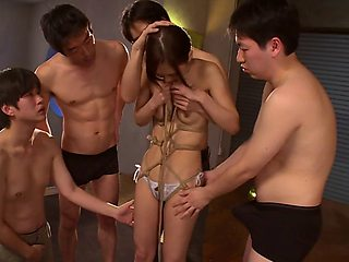 Kinky Asian woman loves trying new things and jizz on her face