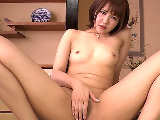 Oriental girl wildly penetrated with toys by naughty friend