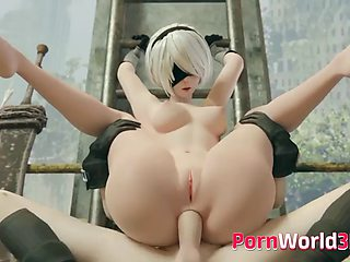Anime sluts from video games gets fuck
