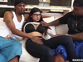Mia khalifa monster cock threesome