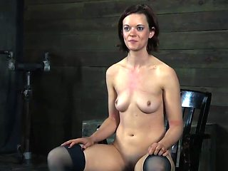 Tied cutie gets mouth fucked by a horny bloke