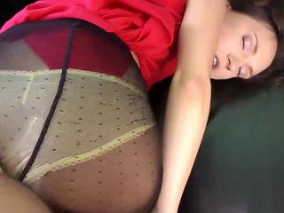 Brit amateur in pantyhose