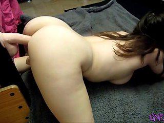 My hot stepsister enjoys her dildo deep inside her