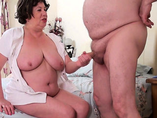 Elderly Trisha enjoyed the doctors not so big cock