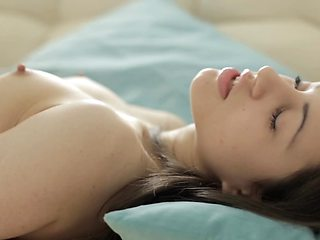 Petite Euro girl needs sensual sex in her bed
