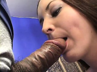 Sultry brunette housewife takes a fat prick in her tight hairy beaver