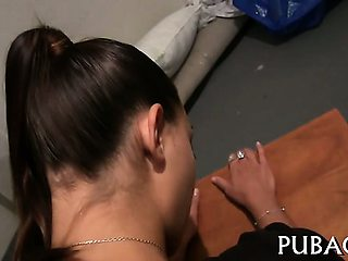 Scandalous pussy drilling session