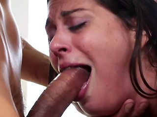 Cute girl tied up and double penetrated by husband's friends