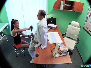 Hidden camera in the doctors office records sex with a patient