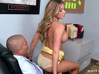 hot blonde fucks her boss