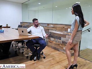 Avery Black needs a raise and she is more than willing to fuck her boss