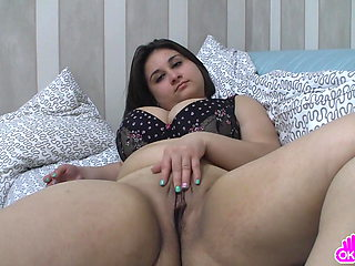 Ugly fat chick masturbating intensely