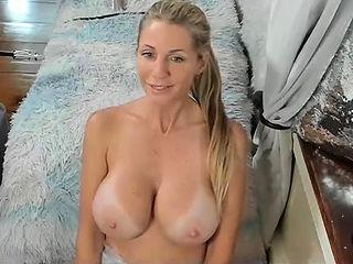 Very hot German blonde masturbate