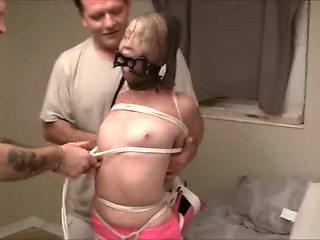 Really tight pantyhose bondage 1
