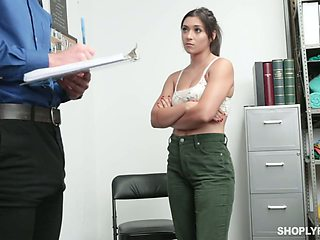 Guilty gal Brooklyn Gray deserves banging from behind by lewd cop