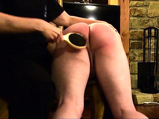 Naughty mature lady getting her wonderful ass spanked hard