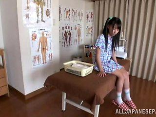 Hot Asian teen enjoys the art of erotic massage