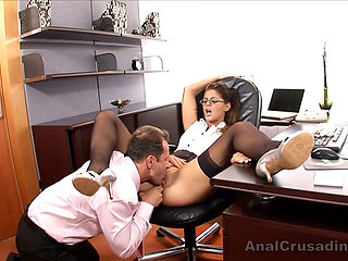 Stud drills secretary's ass